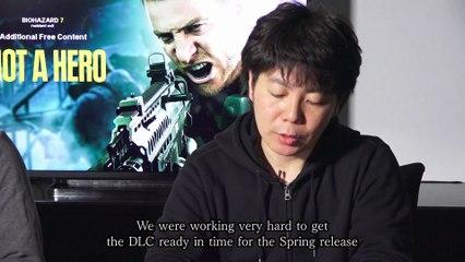 Not a Hero Dev Team Message de Resident Evil 7