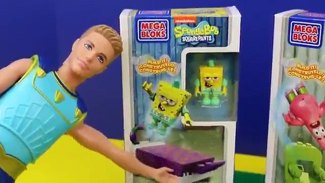 SpongeBob SquarePants Toys Mega Bloks Build Barbie Mermaid Mike The Merman amp Patrick DisneyCarToys