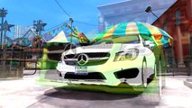 Spiderman Colors Test-Drive Mercedes Benz CLA 250 Cars Colors Crazy Stuff Nursery Rhymes Action