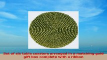 Handmade Indian Gold Beaded Tea Coasters  4Inch Placemats for Teacups  Set of 6 Cup 8da38070
