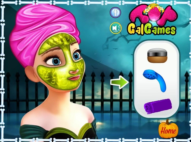 Принцесса Анна делает себе макияж на хэллоуин! Игра для девочек! Kids games!