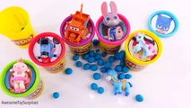 Learn Colors Nickelodeon Jake Catboy Peppa Pig Lion Guard Play-Doh Surprise Tubs Episodes!