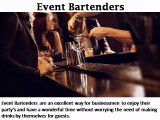 Event Bartenders - bartender4you.co.uk