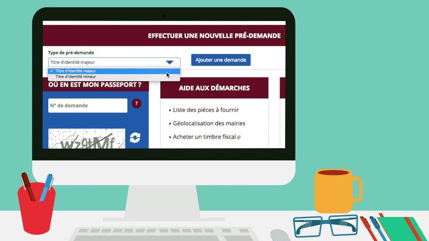 Pré-demande de carte d'identité en ligne