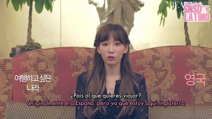 SNSD Taeyeon QA [Subs por SNSDLatino]