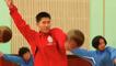 North Korean Basketball Players Learn Gymnastics