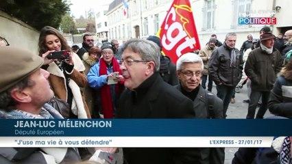 """Jean-Luc Mélenchon s'emporte face à un cheminot : """"J'use ma vie à vous défendre !"""""""