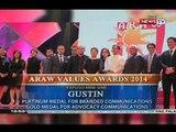 GMA Network, binigyang parangal sa iba't ibang kategorya sa Araw Values Award 2014