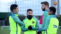 FC Barcelona training session: Last workout before the trip to Sevilla