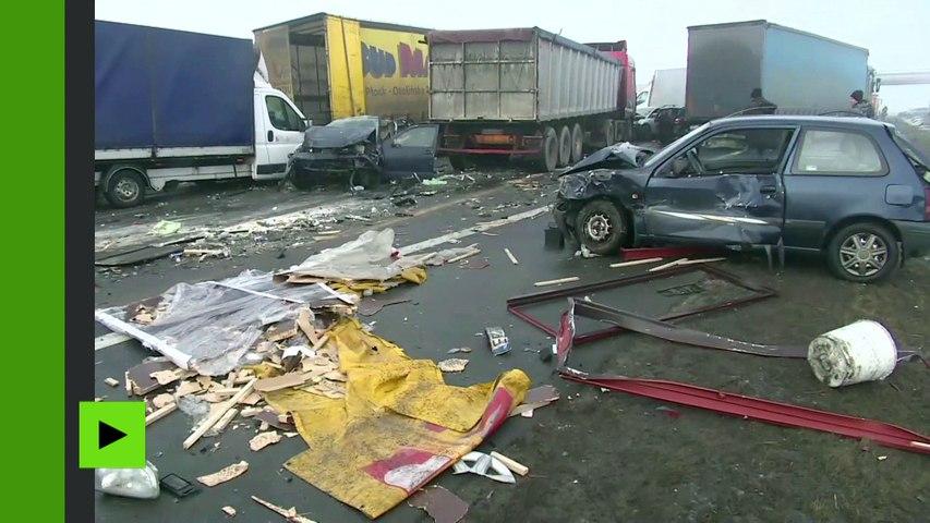 Plus de 60 véhicules impliqués dans de monstres carambolages sur une autoroute en Pologne