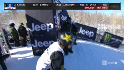 X-Games - Snowboard Slopestyle - Tyler Nicholson mène les qualifs