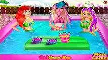 Ariel Barbie e Rapunzel Princesas Dia de piscina Princesas Disney