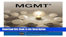 Read [PDF] MGMT  (with MGMT Online, 1 term (6 months) Printed Access Card) (New, Engaging Titles