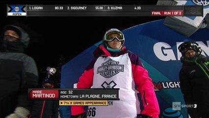 X-Games - Ski Halfpipe - Marie Martinod décroche l'or à Aspen