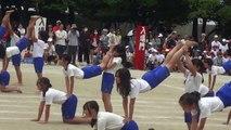 小学校運動会 6年「組立体操」