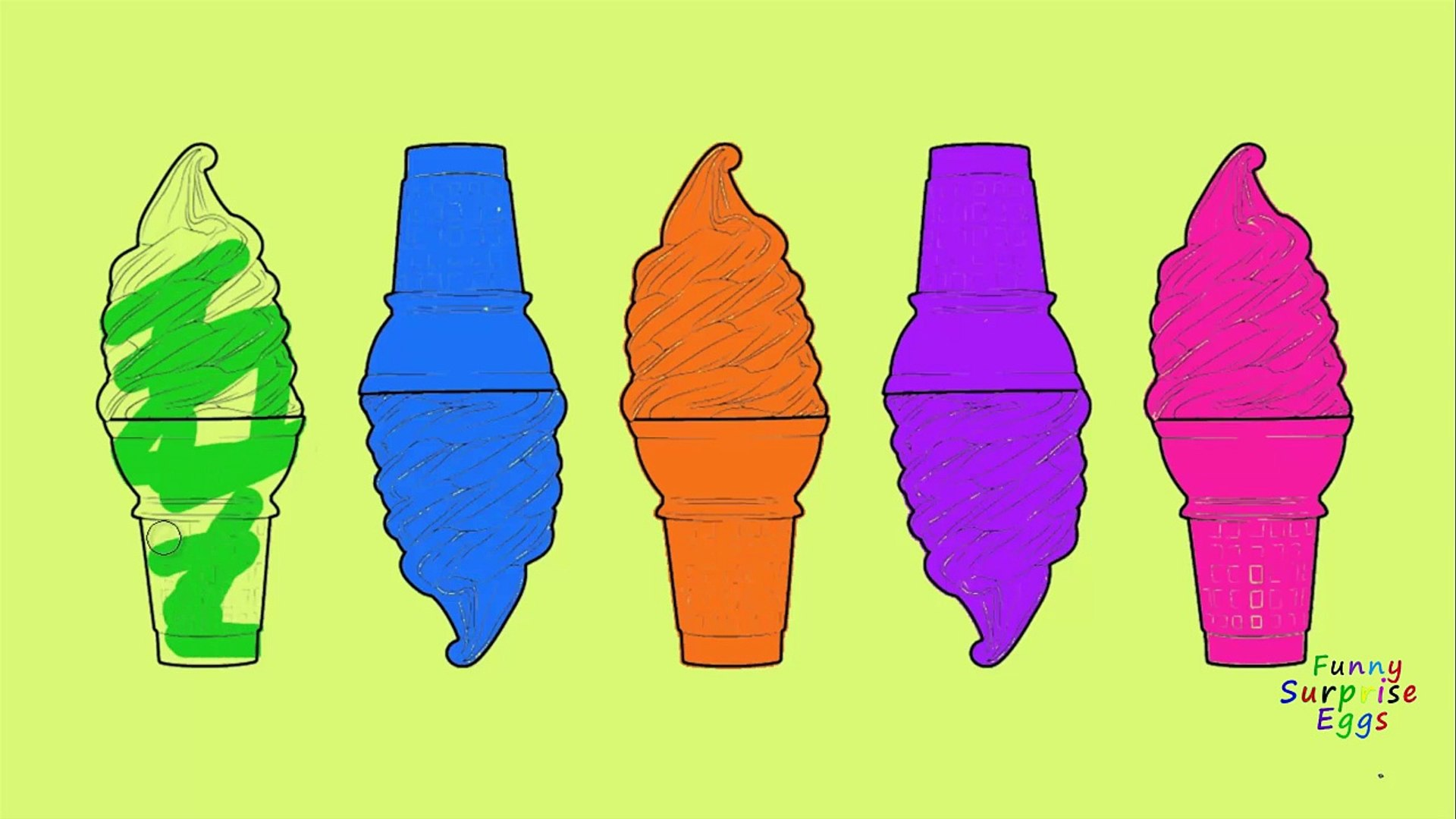 Learning Colors for Kids   teach Colours   Soft ice cream for Kids Children Babies Learning videos