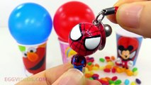 Elmo Spider Man Balls Surprise Cups with Mickey Mouse and Minnie Mouse Toys Avengers Hulk