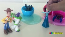 Eggs Surprise Toys Batman and Superman steal Elsas Easter Egg Disney Toys Story Learn Colors Slime