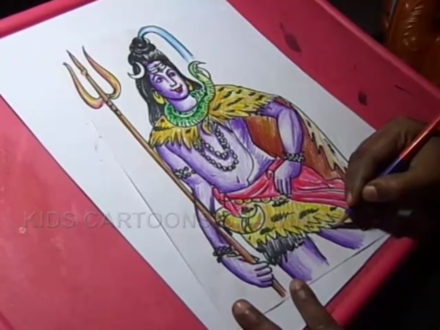 How To Draw Lord Shiva Drawing Video Dailymotion