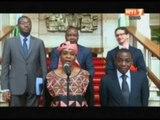 Le Président Ouattara reçoit la nouvelle patronne de l'ONUCI Aïchatou Mindaoudou Souleymane