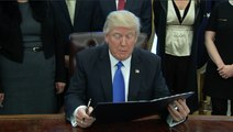 Trump signs executive orders on lobbying restrictions and Islamic State strategy