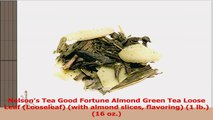 Nelsons Tea Good Fortune Almond Green Tea Loose Leaf Looseleaf with almond slices 0c4bf497