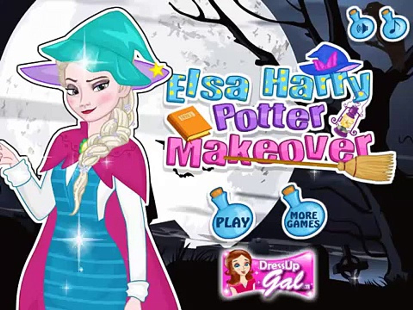 Elsa harry potter make over game , fun game play for kids , super game for kids , best game for kids