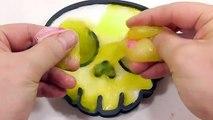 DIY How To Make Milk Slime Syringe Glue Water Balloon Skull Learn Colors Slime Glitter Icecream