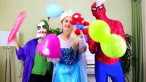 Superheroes In Real Life Dancing and Singing The Wheels On The Bus Song for Kids