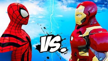 IRON MAN VS SPIDERMAN - EPIC SUPERHEROES BATTLE
