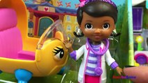 COLLECTION OF DOC MCSTUFFINS WITH DOC & RHONDA DOCS CLINIC DOCS MOBILE CLINIC VEHICLE AND PLAYDOH