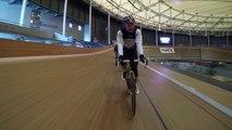 Few laps at the UCI World Cycling Centre Velodrome - Aigle, Switzerland