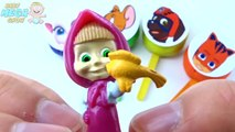 Lollipop Smiley Face Talking Tom Paw Patrol Masha and The Bear Pj Masks Learn Colours for Kids