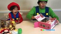 ЙОШИ гигантское яйцо сюрприз игрушки для детей Марио и Луиджи Ирл Нинтендо игрушки Распаковка Райан ToysReview