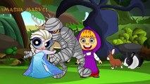 Masha and the Bear Cry Spiderman and Elsa Pranks, paw patrol, PJ Masks Catboy Owlette and Dora