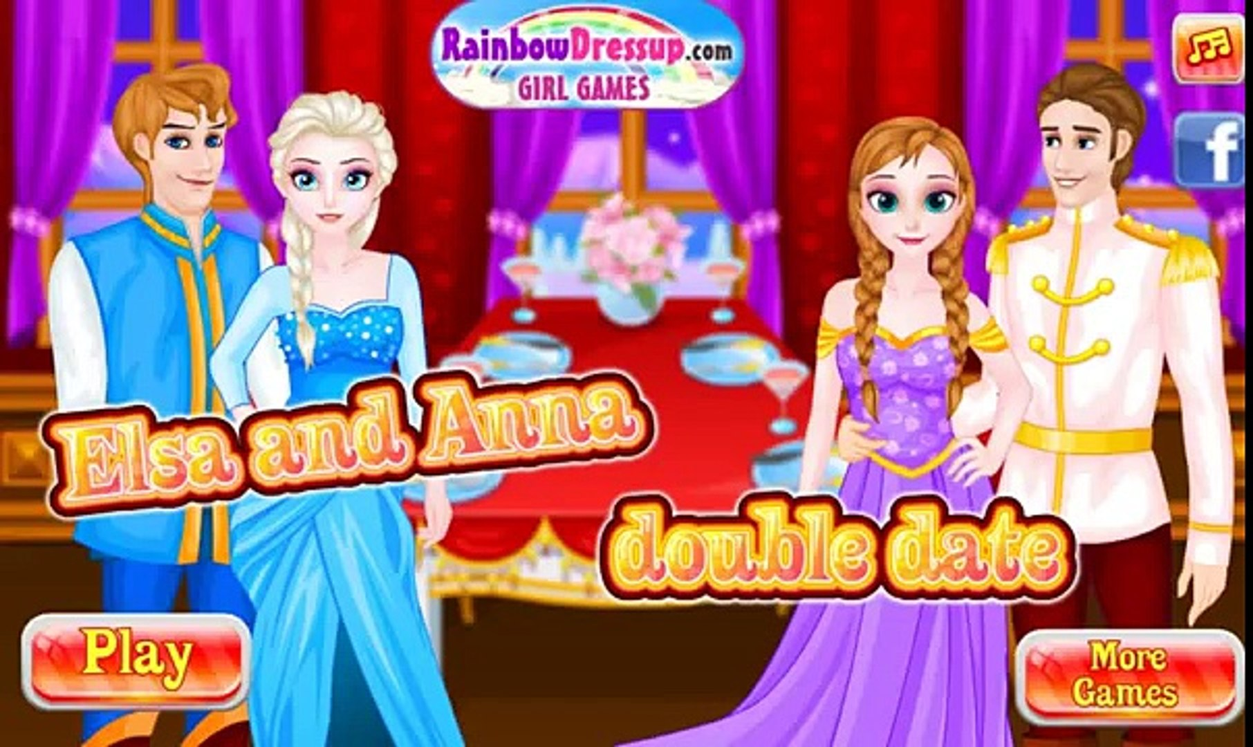 Мультик Холодное Сердце Анна и Эльза готовятся к балу