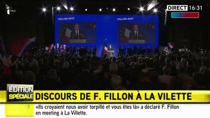 François Fillon fait acclamer Nicolas Sarkozy en meeting à Paris