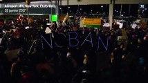 Manifestations contre le décret anti-immigration de Donald Trump, dans plusieurs aéroports des États-Unis