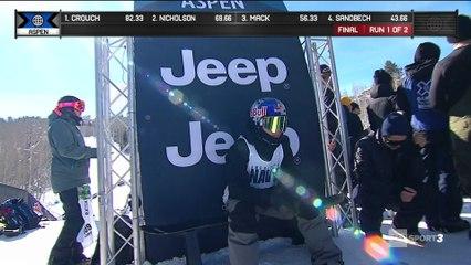 X-Games - Snowboard Slopestyle - Marcus Kleveland est un monstre