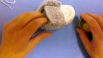 How to crochet my easy petite baby converse style slippers part 2