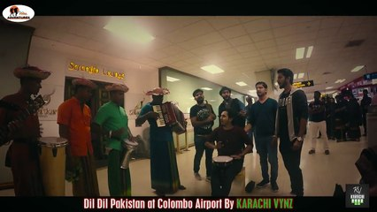 This is what team KARACHI VYNZ did at Colombo airport. Dil Dil Pakistan