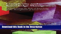 Read [PDF] Complexity and Knowledge Management: Understanding the Role of Knowledge in the