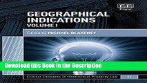 Read [PDF] Geographical Indications (Critical Concepts in Intellectual Property Law series, #11)