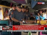 QRT: NCRPO at QCPD, nag-inspeksyon sa Araneta Center Bus Terminal
