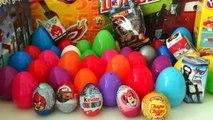 50 Surprise eggs Unboxing Kinder Surprise Eggs Cars Киндеры Сюрпризы на русском языке тачки