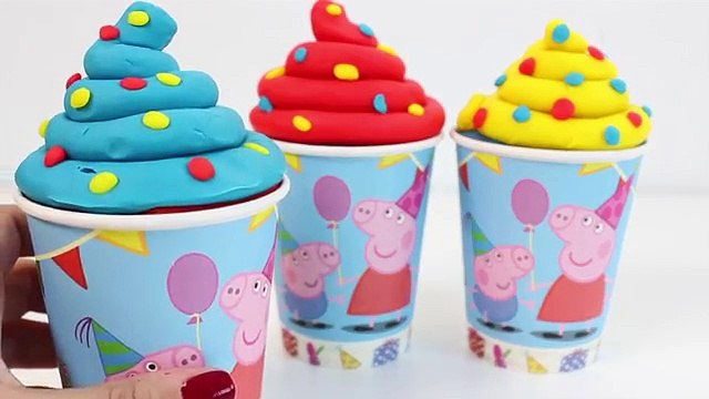 Peppa Pig Ice Cream Surprise Toys Play Doh Rainbow Ice Cream Juguetes de Peppa Pig Toy Videos