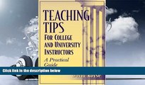 PDF  Teaching Tips for College and University Instructors: A Practical Guide Pre Order