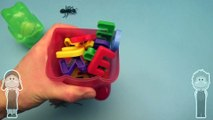 Kinder Surprise Egg Learn to Spell! Spelling Creepy Crawlers! With Gummy Bear Surprise Eggs!