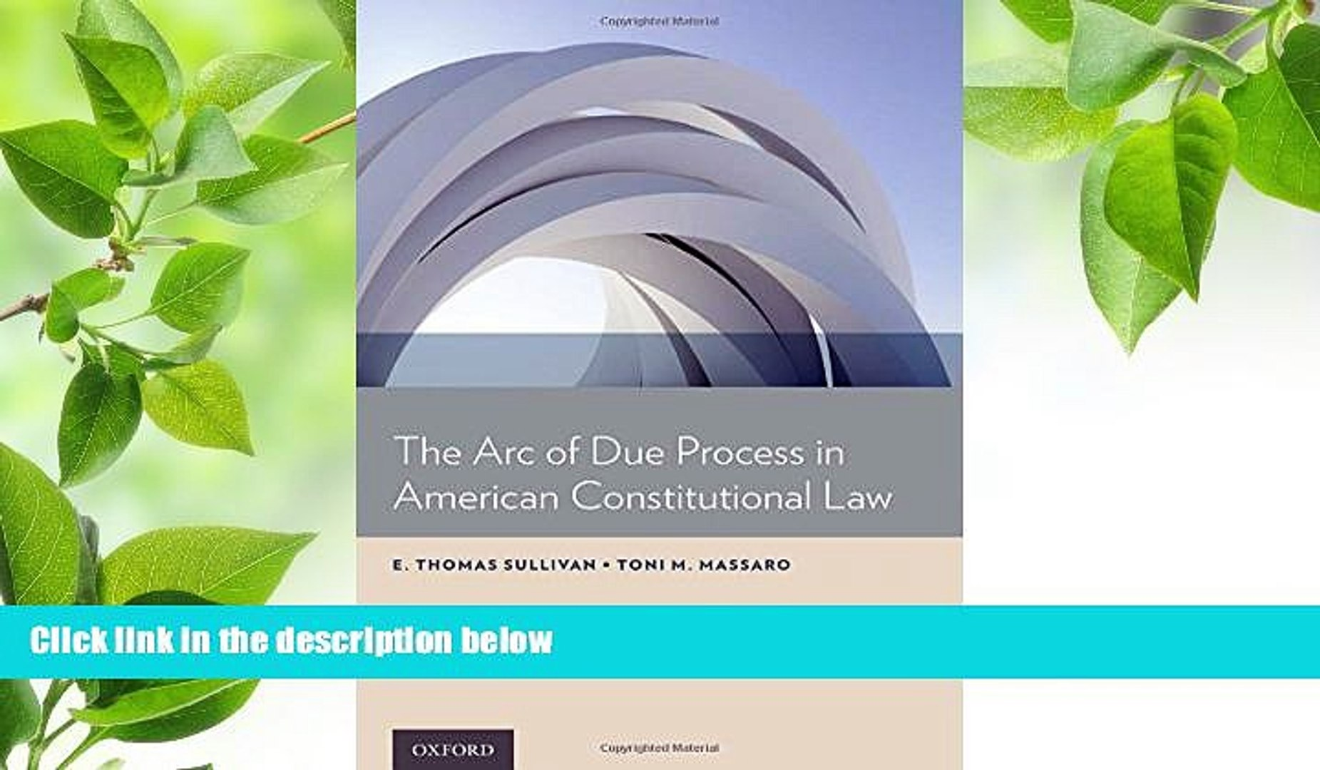 The Arc of Due Process in American Constitutional Law