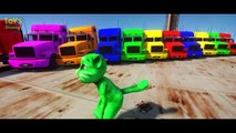 Funny Talking Tom Green Color Smash BIG TRUCK PARTY and Hulk Blue, Yellow, Red ~ Songs for kids Nurs